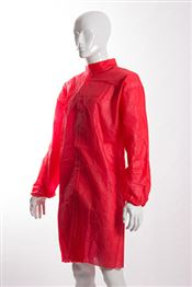 D-0037-R2XL DOTCH® PP-50 Coat with velcro, polypropylene, 50g/m², red, 2XL, 1 pc/bag, 50 bags/box