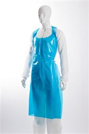 D-0038-B DOTCH® PE-55 Apron, polyethylene, 55g/m² (60µ), blue, 125x80cm, 50 pcs/bag, 5 bags/box