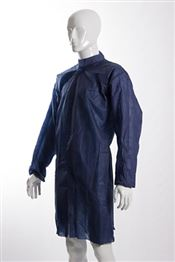 D-0041-B2XL DOTCH® PP-50 Coat with studs, polypropylene, 50g/m², blue, 2XL, 1 pc/bag, 50 bags/box
