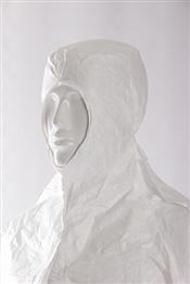 HS-0011-W DOTCH® Tyvek® Hood with straps, Tyvek®, 41g/m², white, 56cm, double bagged, 1 pc/double bag, 100 double bags/box, sterile