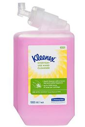 P-0062-1 KLEENEX® Everyday Use Hand Cleanser, with pump, liquid soap, pink, 19x9x9cm, 1l, 1l/cartridge, 6 cartridges/box